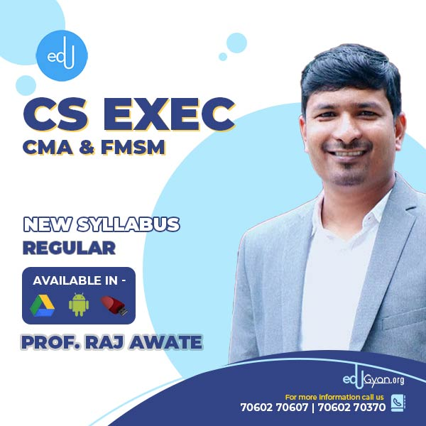 CS Executive CMA & FMSM Combo By Prof Raj Awate