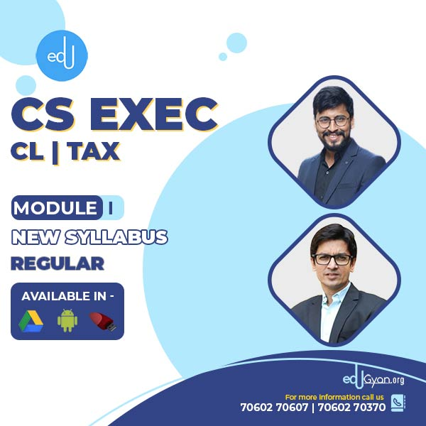 CS Executive Combo - (CL + TAX) By CA CS Shubham Shukhlecha & Prof. Saleem Quraishee