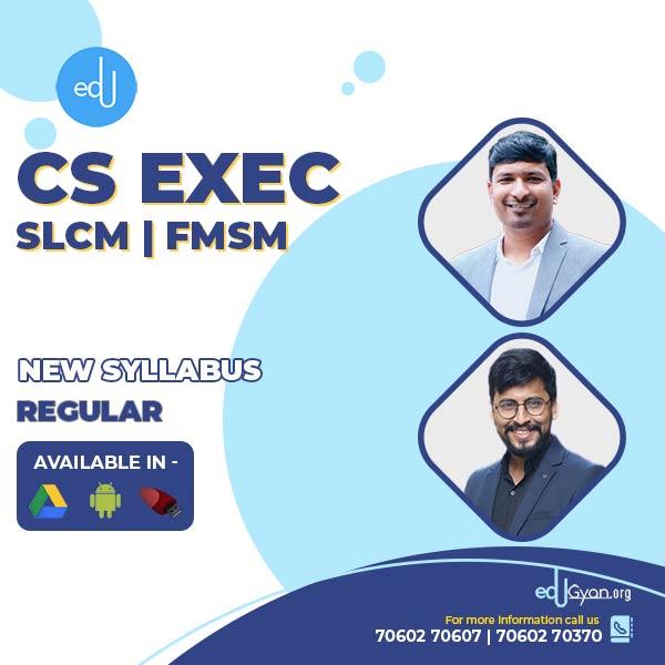 CS Executive Combo - (SLCM + FMSM ) By Prof Raj Awate & CA CS Shubham Shukhlecha