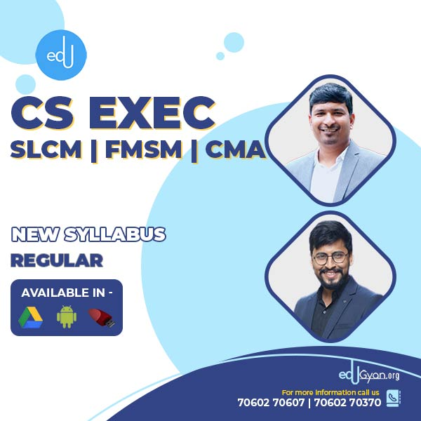 CS Executive Combo - (SLCM + FMSM + CMA ) By Prof Raj Awate & CA CS Shubham Shukhlecha