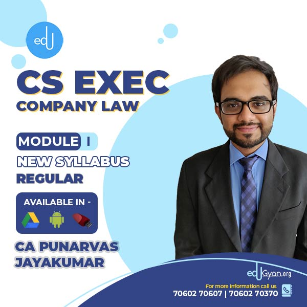 CS Executive Company Law By CA Punarvas Jayakumar