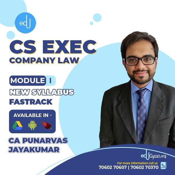 CS Executive Company Law Fast Track By CA Punarvas Jayakumar