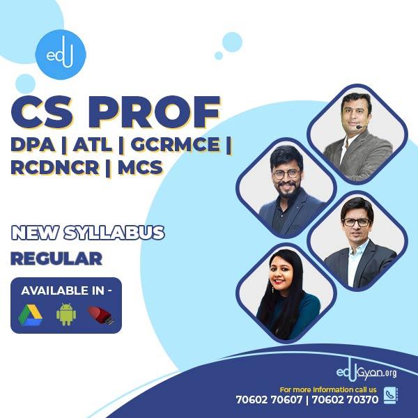 CS Professional Combo - (DPA + ATL + GCRMCE + RCDNCR +SACMDD + CRILW +CFLSE +MCS + Insolvency ) By CS Somya Kataria & Prof. Saleem Quraishee & CA CS Nilamkumar Bhandari & CA CS Shubham Suklecha