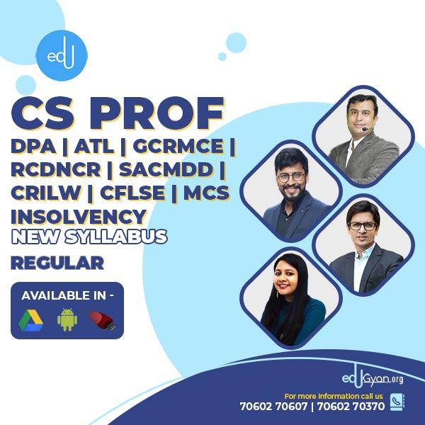 CS Professional Combo - (DPA + ATL + GCRMCE + RCDNCR + MCS ) By CS Somya Kataria & Prof. Saleem Quraishee & CA CS Nilamkumar Bhandari & CA CS Shubham Sukhlecha