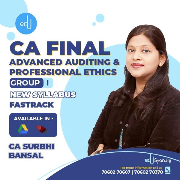 CA Final Advanced Auditing & PE Fast Track By CA Surbhi Bansal
