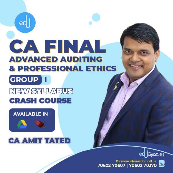 CA Final Advanced Auditing & PE Crash Course By CA Amit Tated