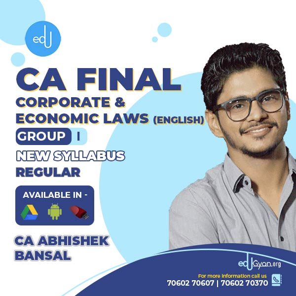 CA Final Corporate & Economic Laws Fast Track By CA Abhishek Bansal (English)