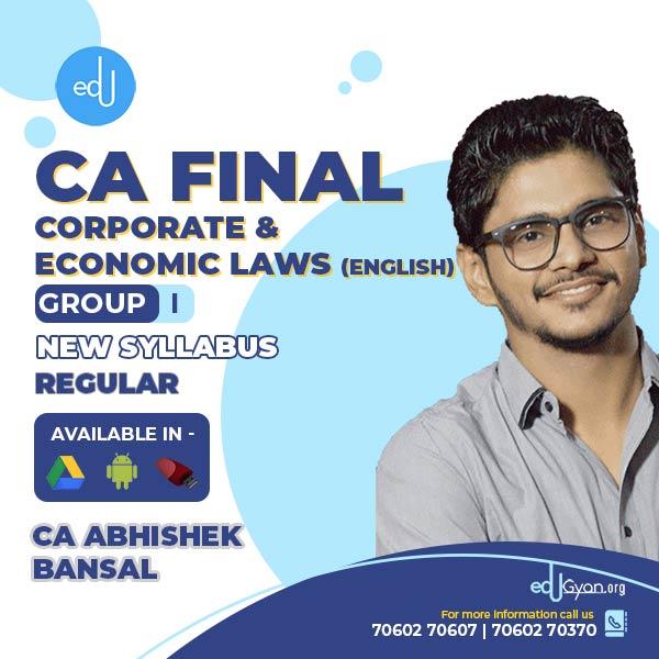 CA Final Corporate & Economic Laws Fast Track By CA Abhishek Bansal (English)
