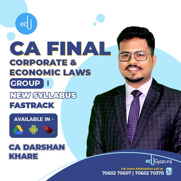 CA Final Corporate & Economic Laws Fast Track By CA Darshan Khare