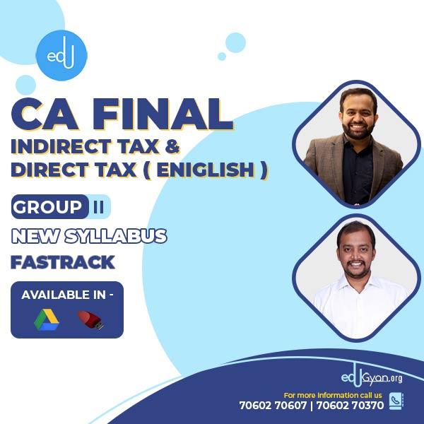 CA Final DT & IDT Fast Track Combo By CA Bhanwar Borana & CA Tharun Raj (English)