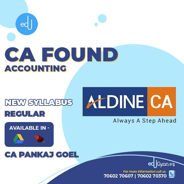 CA Foundation Accounting By CA Pankaj Goel