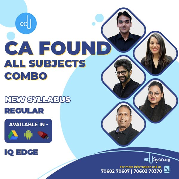 CA Foundation All Subjects Combo By IQ Edge