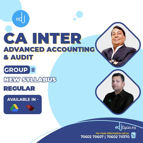 CA Inter Advance Account & Audit Combo by CA Parveen Jindal & CA Pankaj Garg (Group II)