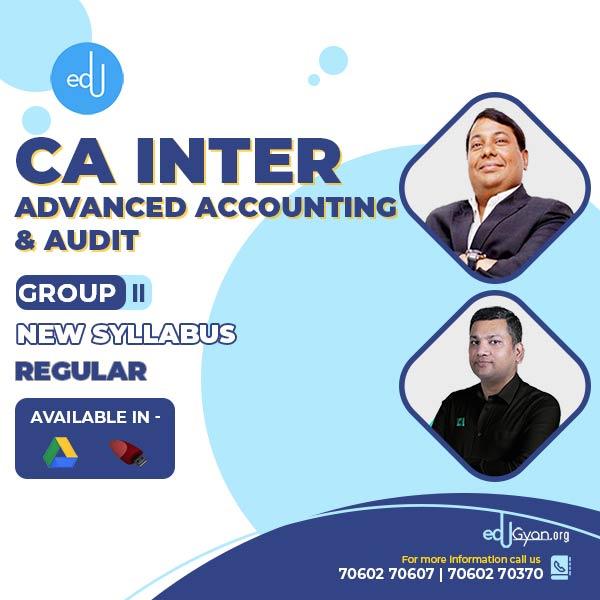 CA Inter Advance Account & Audit Combo by CA Parveen Jindal & CA Pankaj Garg (Group II)