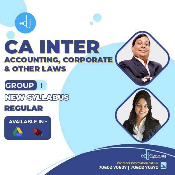 CA Inter Accounting & Corp. & Other Laws Combo By CA Parveen Jindal & Ankita Patni