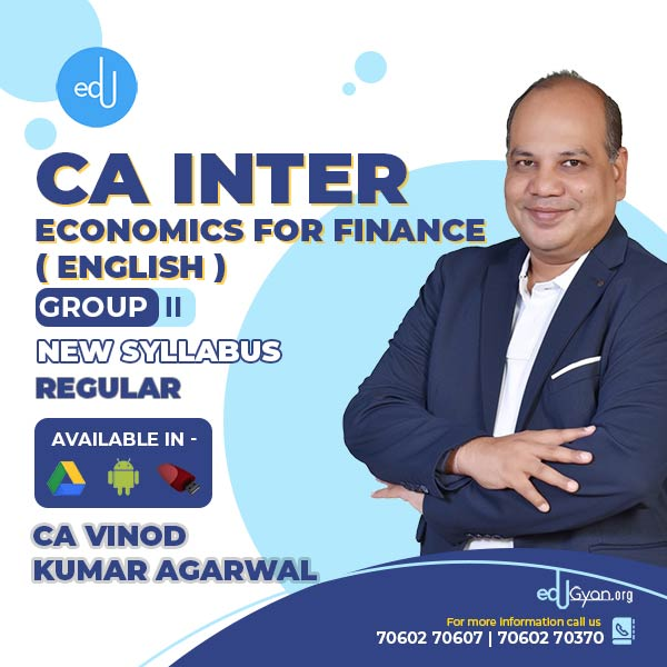CA Inter Economics For Finance By CA Vinod Kumar Agarwal (English)