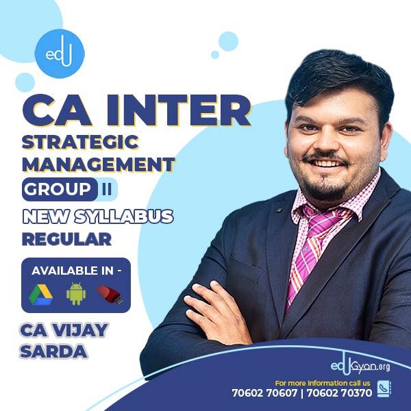 CA Inter Strategic Management By CA Vijay Sarda