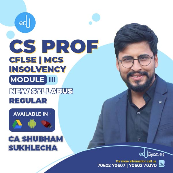CS Professional Combo - (CFLSE + MCS + Insolvency )By CA CS Shubham Suklecha
