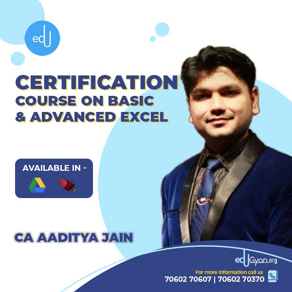 Course On Basic & Advanced Excel By CA Aaditya Jain