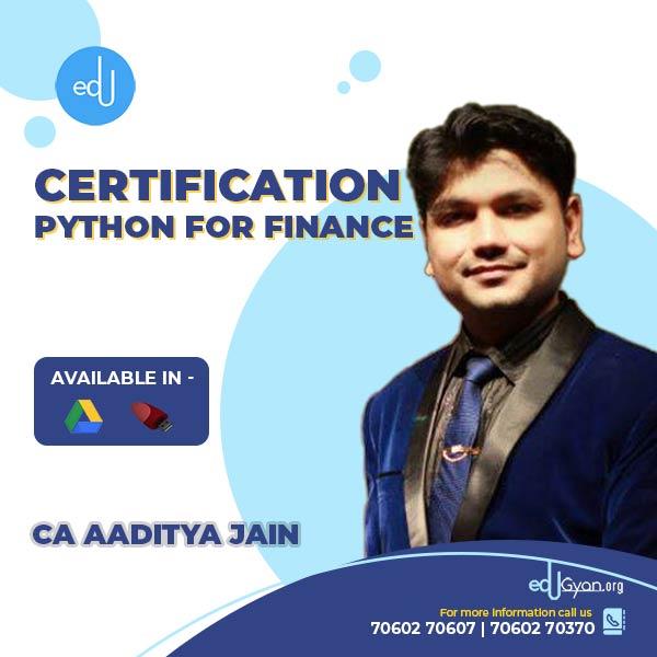 Python For Finance By CA Aaditya Jain