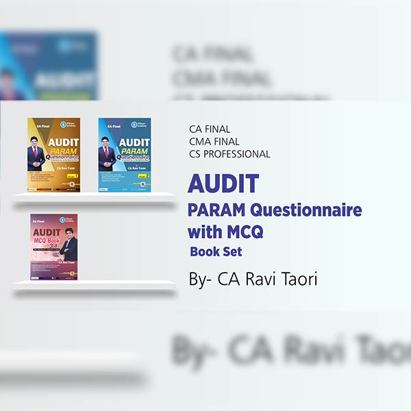 CA Final Audit PARAM Questionnaire with MCQ Book Set By CA Ravi Taori