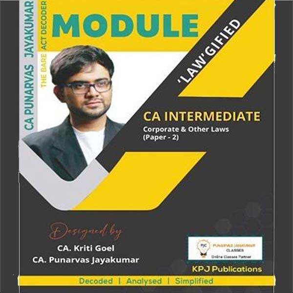 CA Inter Corporate & Other Laws Module Book By CA Punarvas Jayakumar