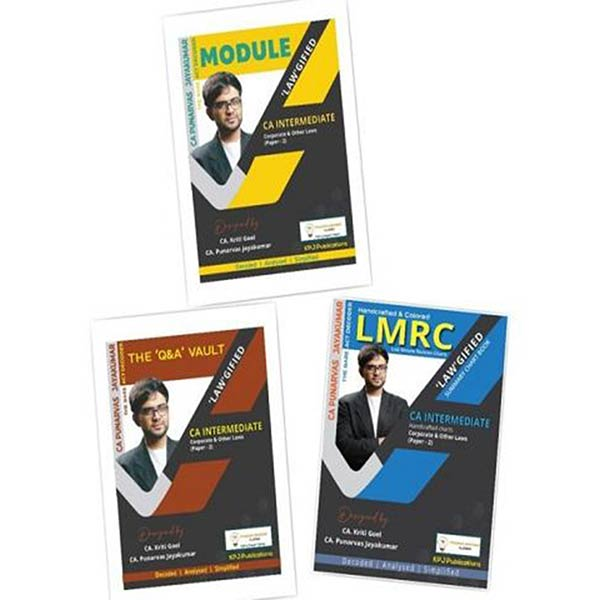 CA Inter Corporate and Other Laws Book Set By CA Punarvas Jayakumar