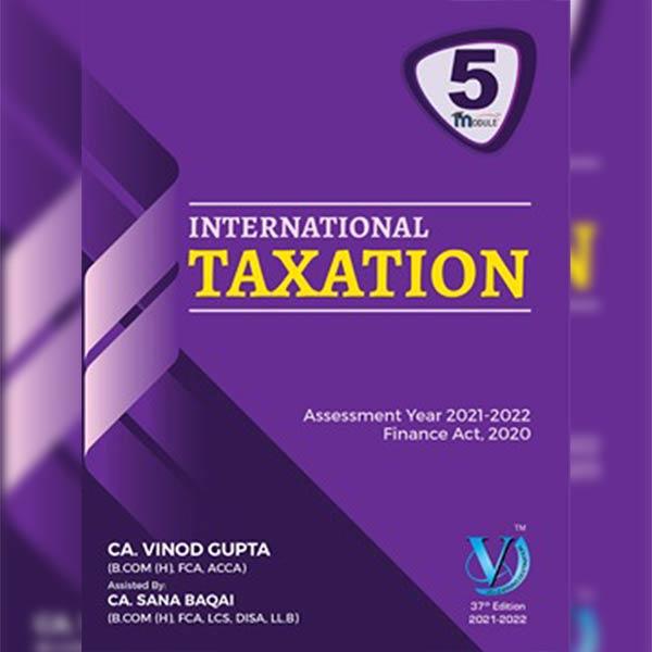 CA Final DT International Taxation Book By CA Vinod Gupta