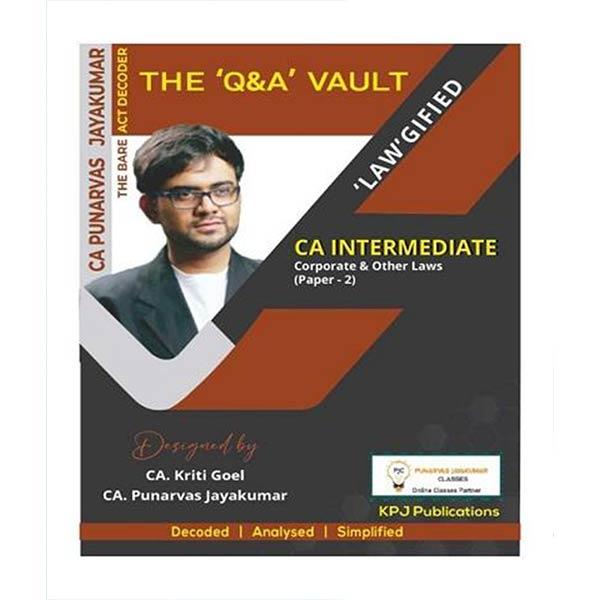 CA Inter Corporate & Other Laws Q&A Vault By CA Punarvas Jayakumar