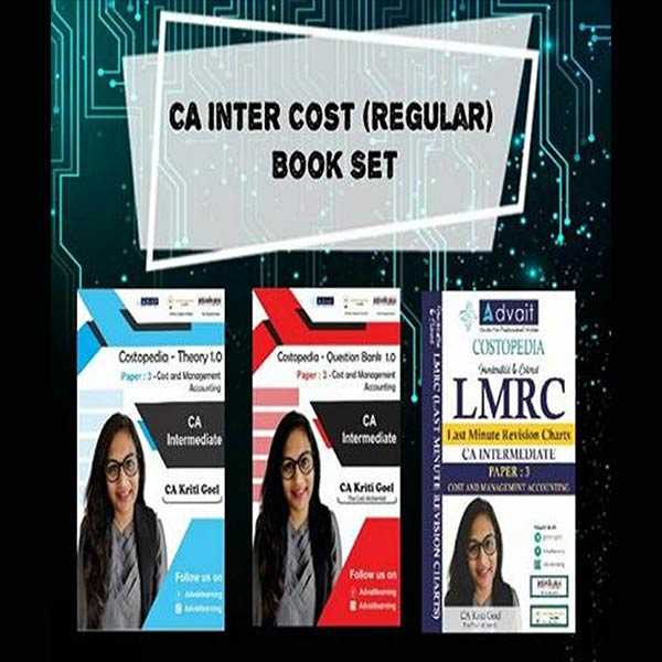CA Inter Cost and Management Accounting Complete Book Set By CA Kriti Goel
