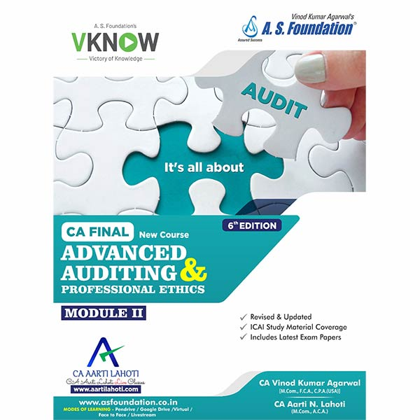 CA Final Audit 6th Edition Combo Module I & II By CA Aarti Lahoti & CA Vinod k Agarwal