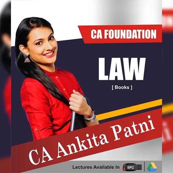 CA Foundation Law Chart Books By CA Ankita Patni