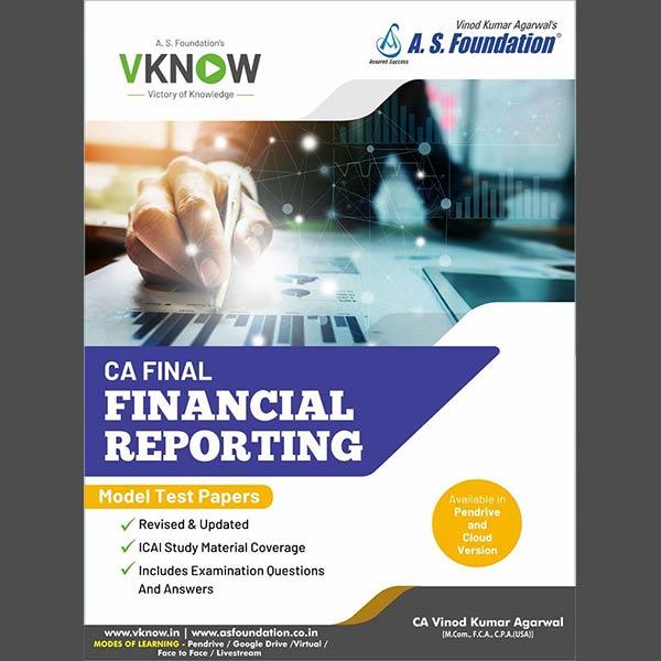 CA Final FR Model Test Paper By CA Vinod K Agarwal