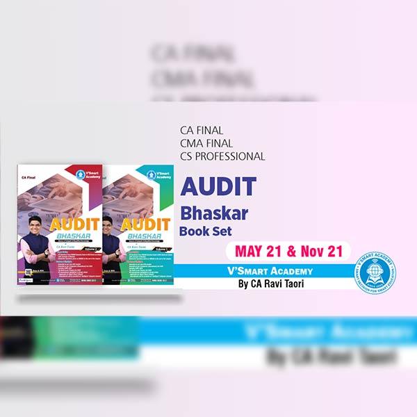 CA Final Audit Bhaskar Book Set By CA Ravi Taori