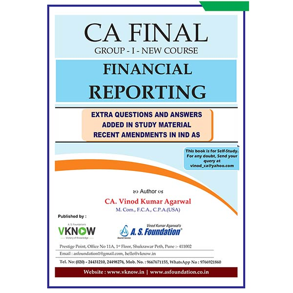 CA Final FR Amendment 2021 Exam By CA Vinod K Agarwal