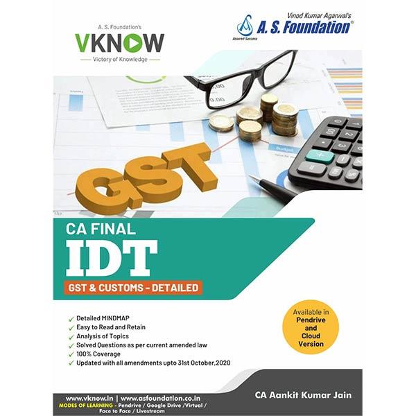 CA Final IDT GST & Custom By CA Aankit Kumar Jain