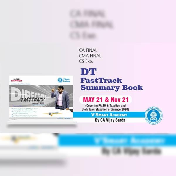 CA Final DT Fast Track Summary Book By CA CS Vijay Sarda