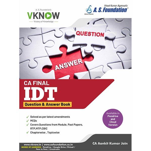 CA Final IDT Question & Answers By CA Aankit Kumar Jain
