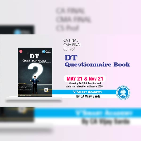 CA Final DT Questionnaire Book By CA CS Vijay Sarda