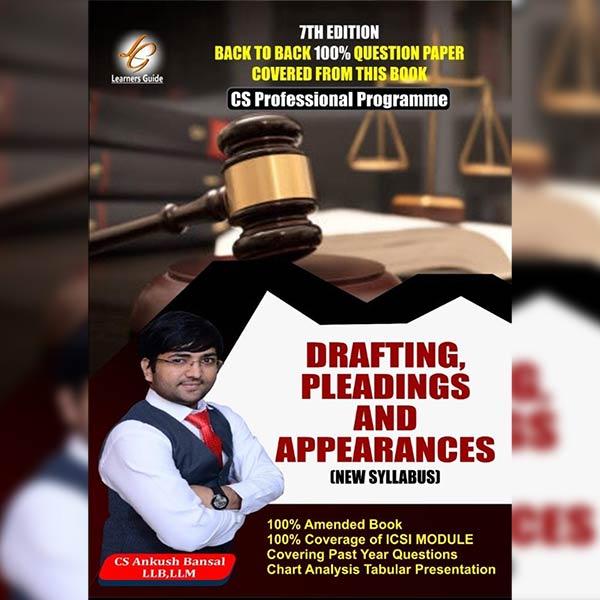 CS Professional Drafting, Pleadings & Appearances By CA Ankush Bansal