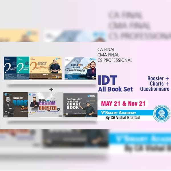 CA Final IDT All Book Set By CA Vishal Bhattad