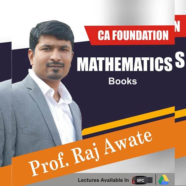 CA Foundation Maths Books By Prof. Raj Awate