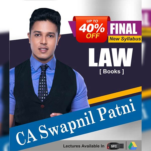 CA Final New Syllabus Group I Corporate and Economic Laws Books By CA Swapnil Patni