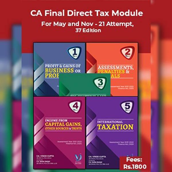 CA Final Direct Tax Books By Vinod Gupta