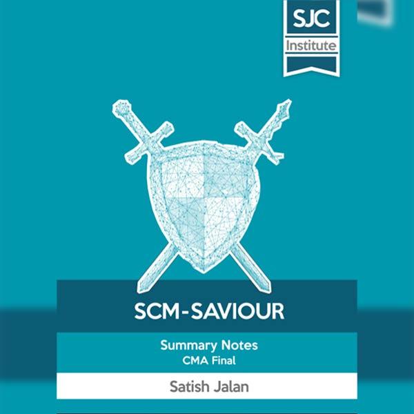 CMA Final SCM Saviour By CA Satish Jalan