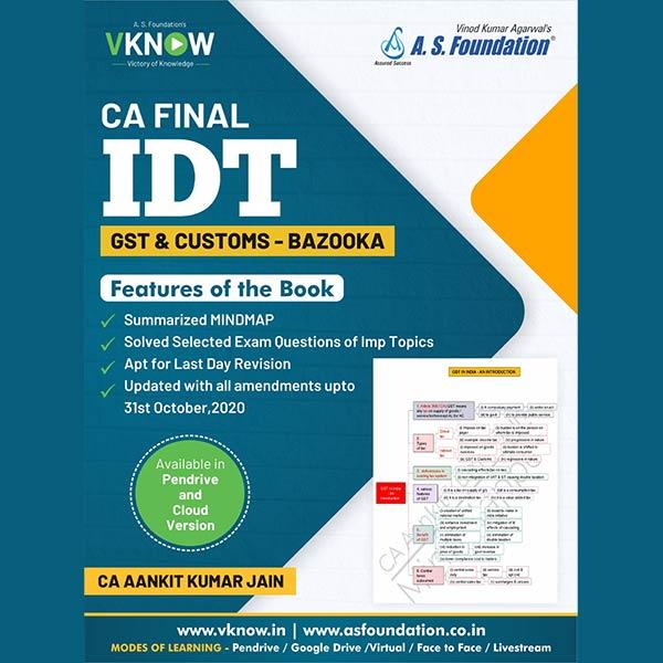 CA Final IDT Mind map Bazooka By CA Aankit Kumar Jain