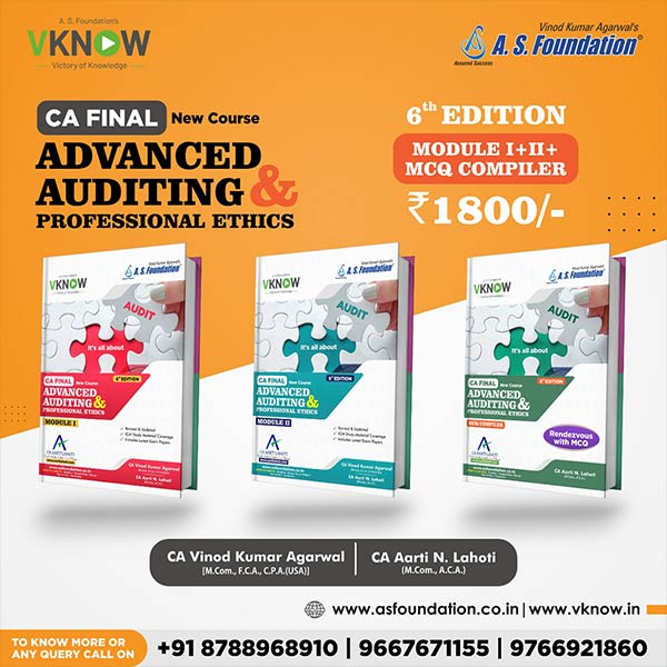 CA Final Audit 6th Edition Combo Module I, II & III By CA Aarti Lahoti & CA Vinod k Agarwal