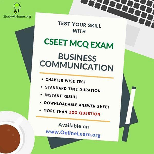 CSEET Business Communication MCQ's Exam