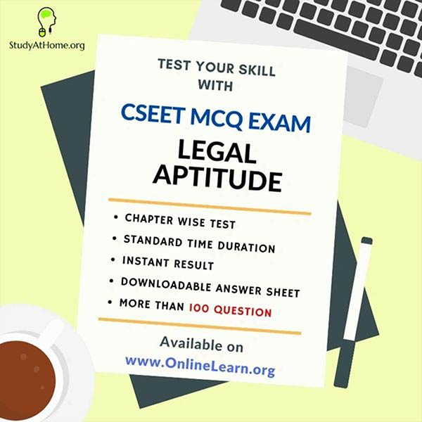 CSEET Legal Aptitude MCQ's Exam