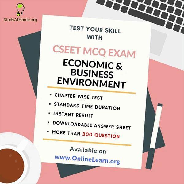 CSEET Economic & Business Environment MCQ's Exam